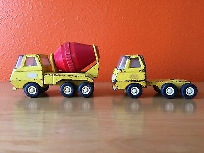 VINTAGE LOT Tonka Cement mixer TRUCK cab rig toy #55010 Die Cast Metal pressed