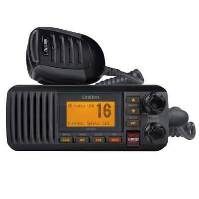 Uniden Fixed Mount VHF Radio Black #UM385BK