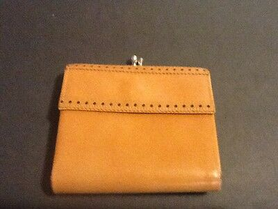 Vintage PRINCESS GARDINER Tan Leather Bi-Fold Wallet