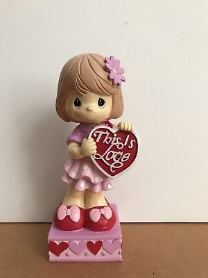 """Precious Moments - Valentines Day - """"This is Love"""" Girl Figurine"""