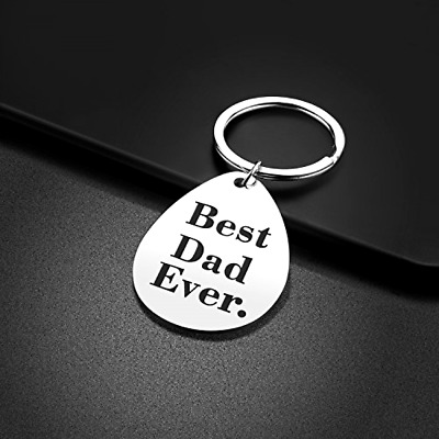 Keychain Gifts for Dad Father Valentines Day Gift Idea from Wife Daughter Son