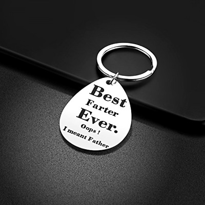 Keychain Gifts for Dad Father Valentines Day Gift Idea from Wife Son Daughter