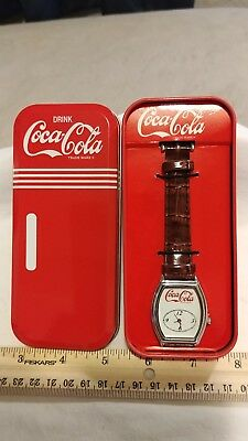 Coca Cola watch in case with Coca Cola emblem
