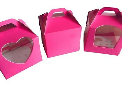 Premium Single Cupcake Boxes HOT💕~ HOT 💕~ HOT 💕  PINK  💕 *** STAR BUY ***