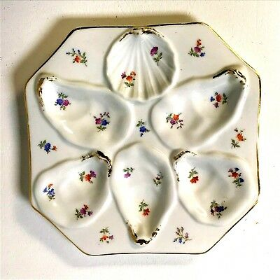 Antique German Dresden 6 Well Shell Oyster Plate Pink Blue Brown Color Decoratio  sc 1 st  PicClick & DRESDEN ANTIQUE OYSTER Plate Richard Klemm Floral 9 1/4u201d - $77.42 ...