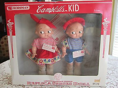 Vtg Limited Edition Campbell's Kids Replica Series Dolls Horsman in Original Box