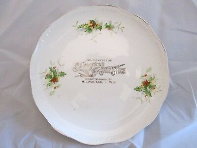 Antique Compliments Of The American Shoe Store, Milwaukee,Wisconsin 8 Inch Plate