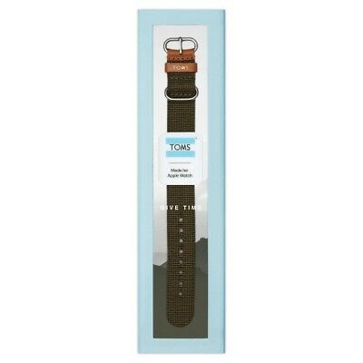 Toms Black Apple Watch Band 38mm NEW IN BOX