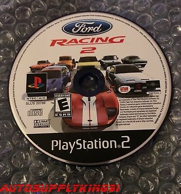 FORD RACING 2 (Sony PlayStation 2 PS2, 2003) Video Game Disc Only 100% Tested