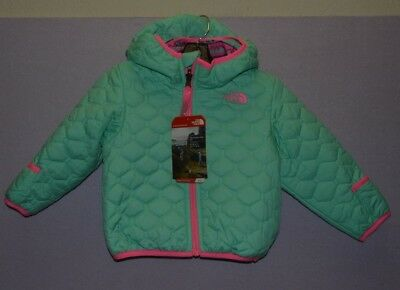 North Face Toddler Perrito Reversible Jacket Girl's Green  Baby 12 18 Months