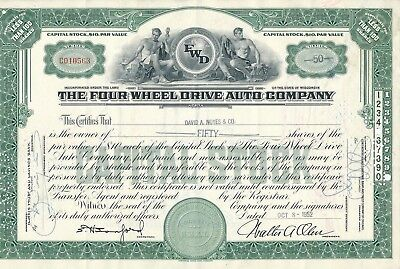 The Four Wheel Drive Auto Company, Wisconsin, 8.10.1952, 50 Shares Nr. CO10563