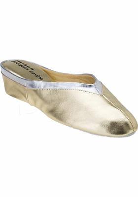 8f3cd165b JACQUES LEVINE  4640 Womens Wedge Slipper Size 8.5 Gold Silver New ...