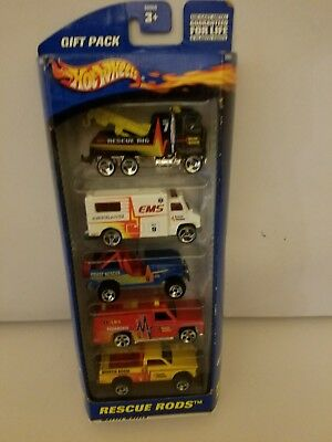 2000 Hot Wheels,#50060, RESCUE RODS 5 pc. Gift Pack New and Factory Sealed Nice!