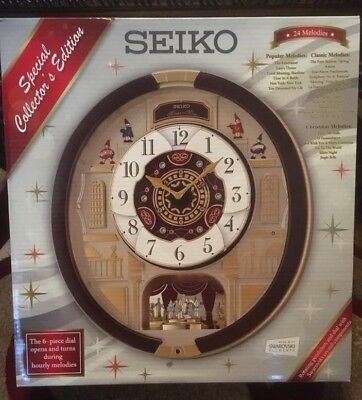 Seiko Special Collector's Edition Motion on Wall Clock QXM554BR