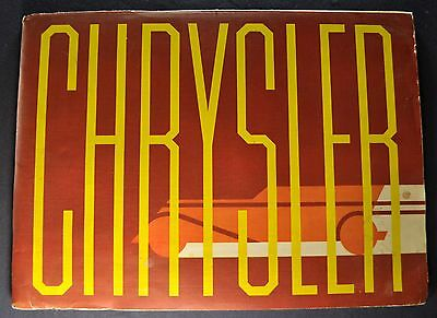 1933 Chrysler Large Prestige Brochure Six 6 Imperial Royal Excellent Original 33
