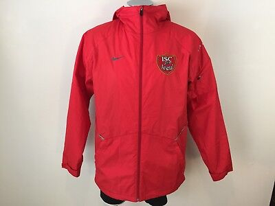20ed8d03cab5 Nike Arsenal Gunners Soccer Track Jacket Zip Hooded Storm-Fit Adult Small  NWOT