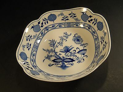 "Meissen Blue Onion Bavaria Germany 9"" Serving Bowl"