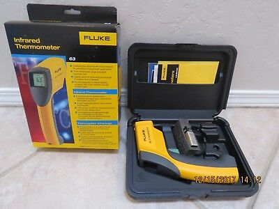 New Fluke 63 Infrared Thermometer With Ballistic Carrying Case