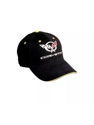 Hat Cap Chevrolet Chevy Corvette C5 Corner Black w yellow