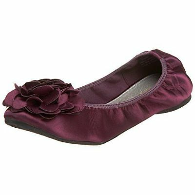 NEW WANTED PUNK BALLET FLATS Merlot Size 7 Elasticized sides