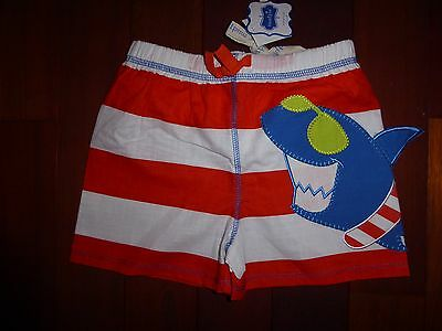 NWT New Mud Pie Boys Shark Swim Trunks 24 Months/2T or 4T