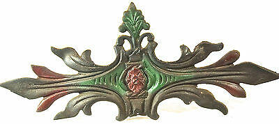 RARE Antique Art Nouveau Cast Iron Drapery Tie Curtain Tie-Back Hook Vtg Orig.