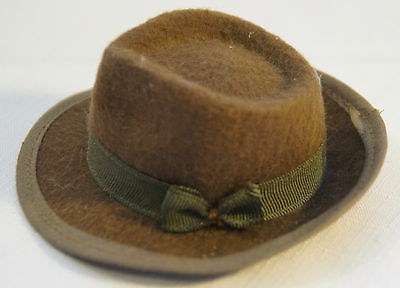 RARE Vtg STETSON Hat Salesman's Sample Men's Brown Felt Fedora Antique Miniature