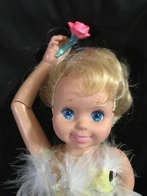 "VINTAGE 1989 TYCO MY PRETTY BALLERINA Blonde Hair 16"" Dancing Doll"
