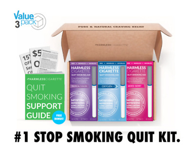 Quit Smoking Aid / Safe Stop Smoking Remedy to Help Overcome Cravings (3 Pack)
