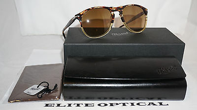 PERSOL New Sunglasses Authentic Tortoise/Brown Polarized PO9649S 1024M2 52 145