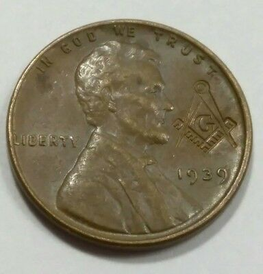 Rare Old Antique 1939 Knights Templar Masonic WWII Free Mason  Collection Coin