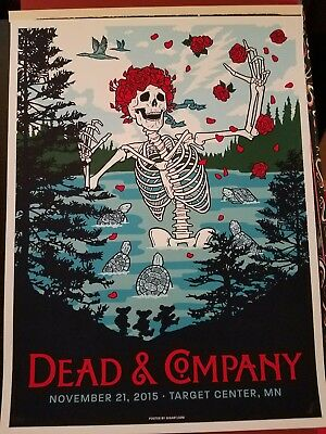 Dead and Company Screen Print Poster 2015 Target Center Minneapolis...