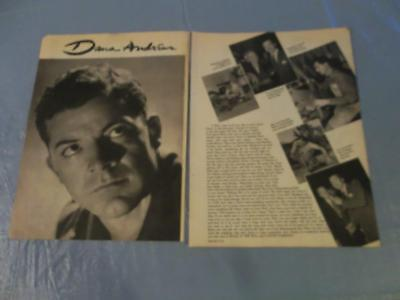 Dana Andrews  vintage clipping #CP