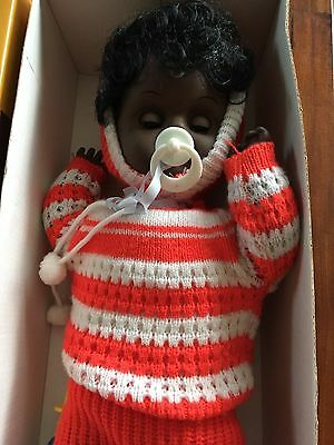Vintage African American Baby Fussy In Box New
