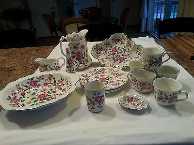 Old Foley Staffordshire England James Kent Chinese Rose 15 Piece Collection