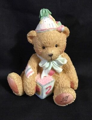 "CHERISHED TEDDY ""Two Sweet Two Bear"" Age 2 Birthday Collectible FIGURINE"