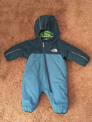 The North Face Infant Newborn Snowsuit Bunting, Size 0-3 Months, EEUC!