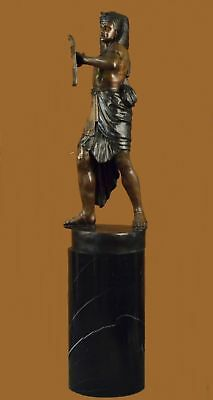 Mand Made Bronze Solid Heavy Brass King Tut Egyptian A Statue Figurine