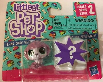 🐈 Littlest Pet Shop Series 2-86 Chunky Water fluff And Mystery Pet Hard To Find