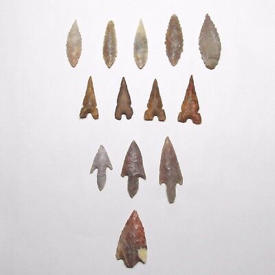 Ancient Neolithic Paleolithic Stone Arrowhead Lot #2