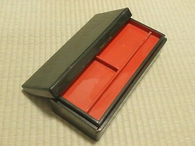 Wooden Box / Calligraphy / Lacquerware / 2 stage type / Japanese Vintage 712