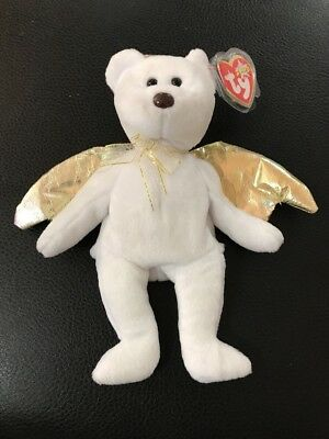 Ty Halo 2 Beanie Baby Bear 2000, Black eyes /Brown nose error