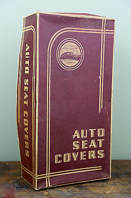 Vintage FIRESTONE Supreme Automobile Seat Covers (Box Only) Old Car Advertising
