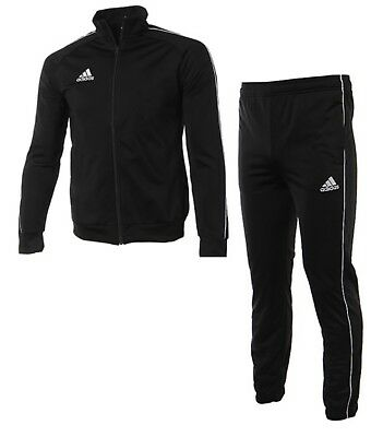 Adidas Youth Core 18 PES Training Suit Set Soccer Black Shirts Pants CE9052