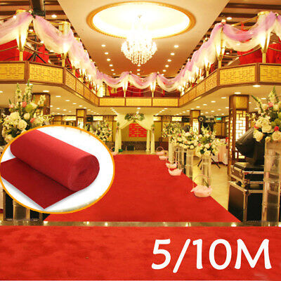 5/10m Red Carpet Runner Hollywood Awards Casino Wedding Party Decoration Night