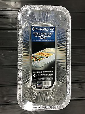 Members Mark Aluminum Steam Table Pan Disposable 1/3 Size (30ct.) (inv#607)