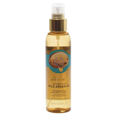 The Body Shop Wild Argan Oil 125ml Moisturiser Skincare For Body and Hair