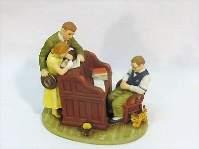 """Norman Rockwell """"The Marriage License"""" Figurine By Goebel Saturday Evening Post"""