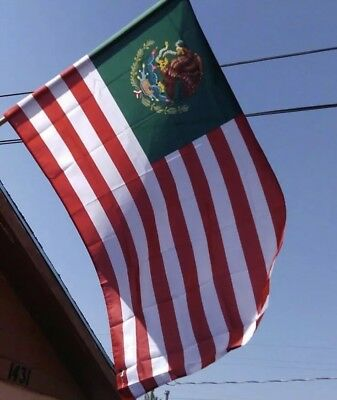 Mexican American Flag 3'x5' ft Designed by Unified Flags