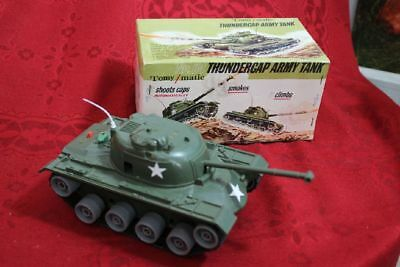 tomy-matic  Thundercap 64 Army Tank Panzer in OVP 60/70er Jahre